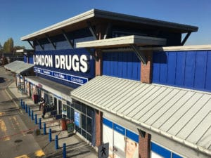 Front view of a London Drugs painted by Cypress Painting