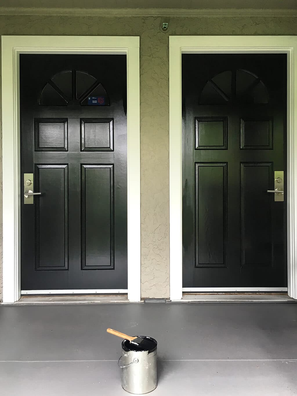 2 black doors painted by cypress painting