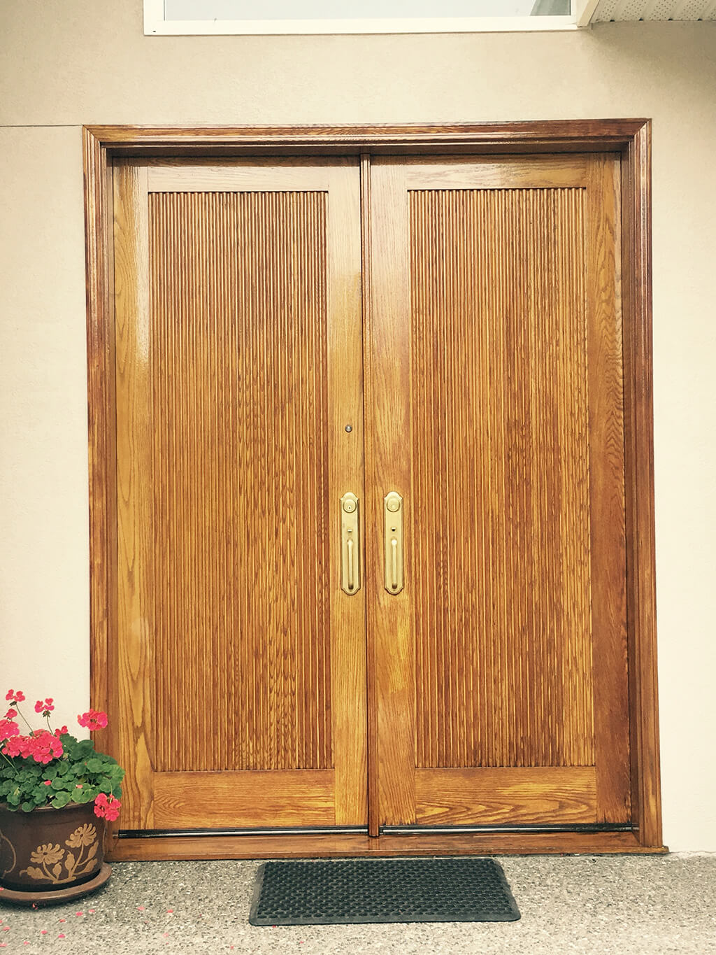a wooden door painted by cypress painting