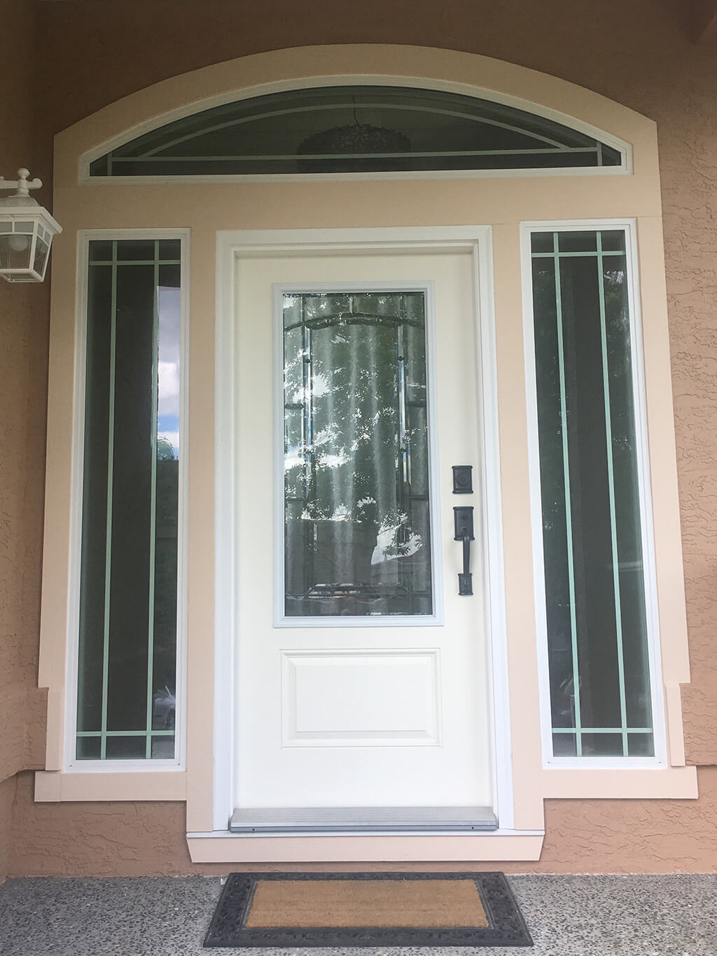 a white door painted by cypress painting