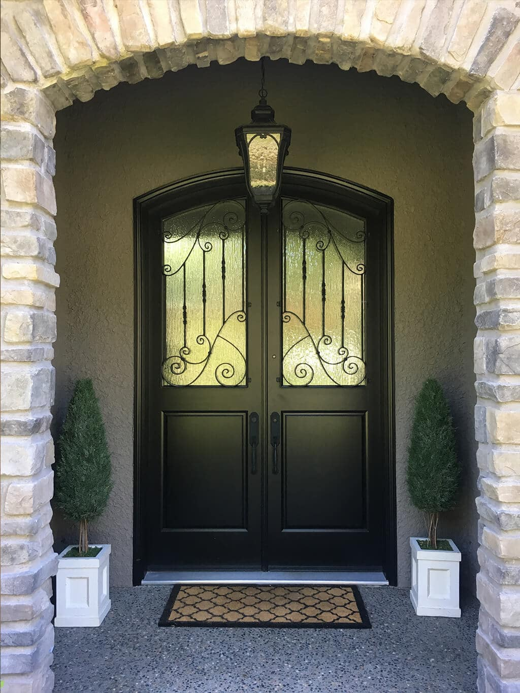 black door painted by cypress painting
