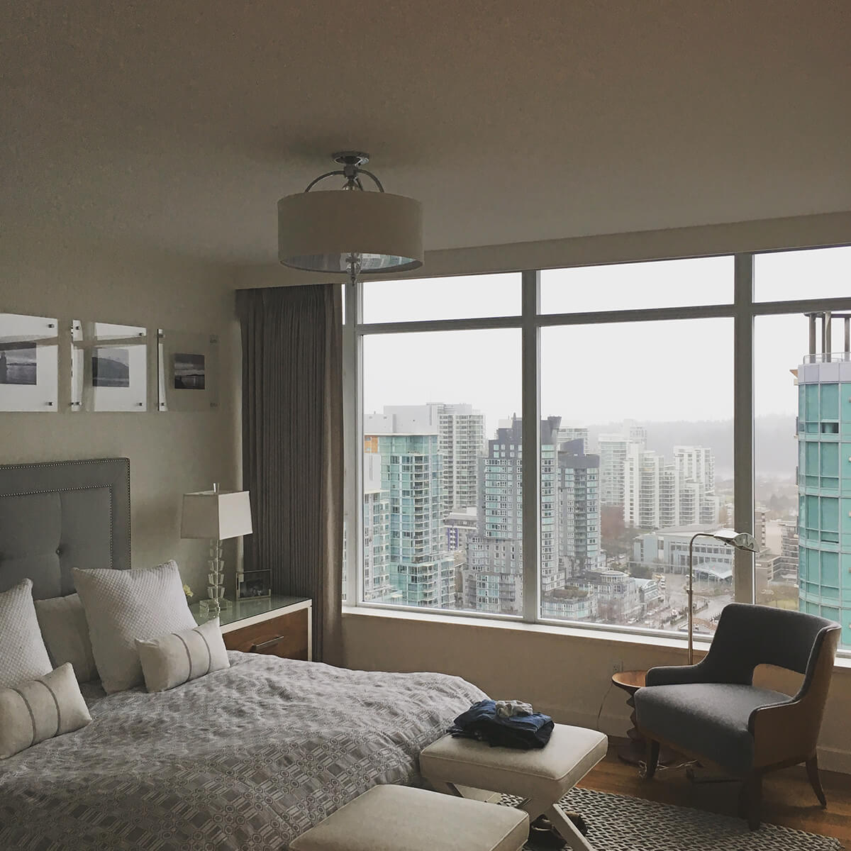 A condo bedroom painted white by cypress painting